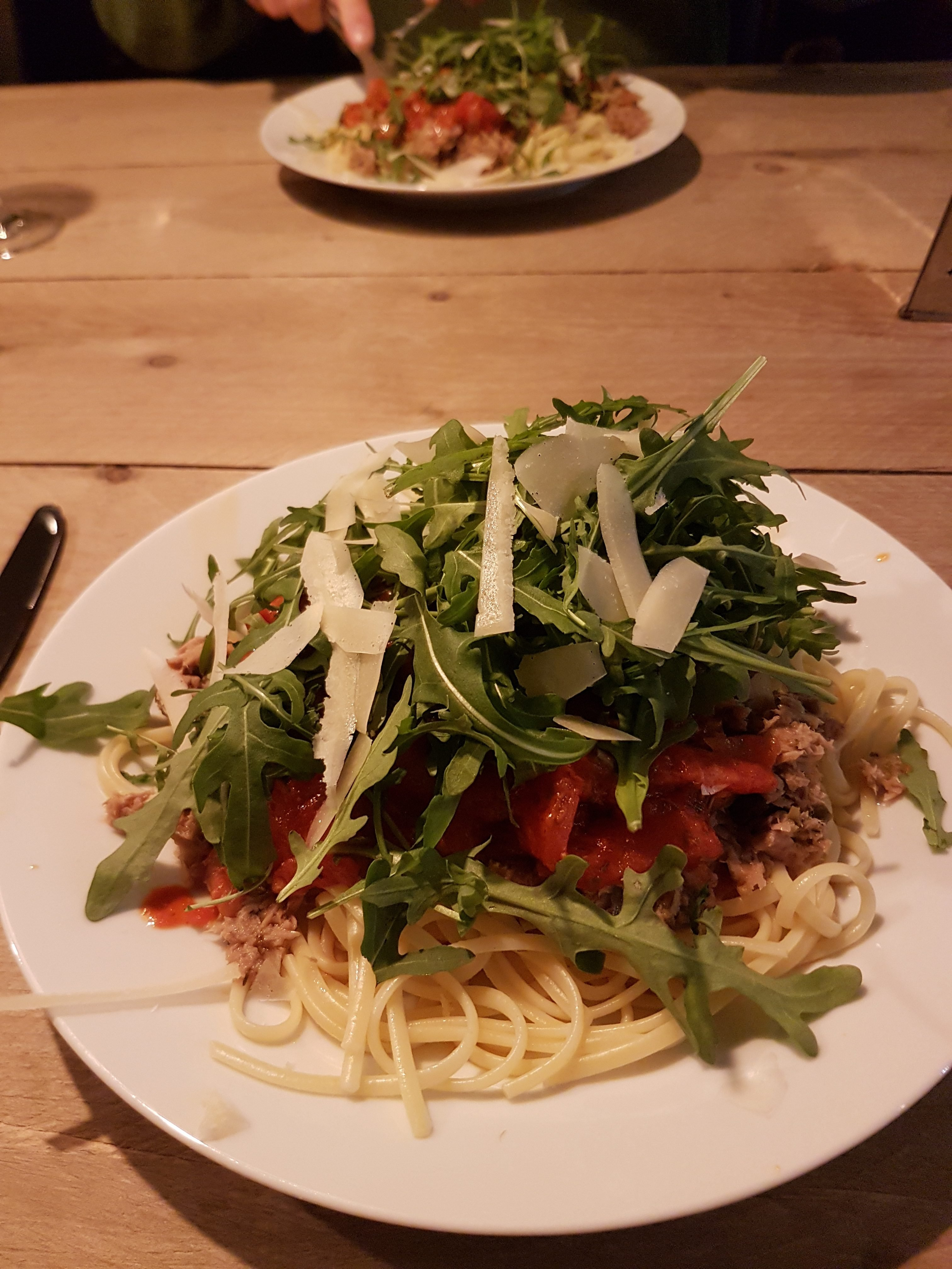 tonijnsaus pasta