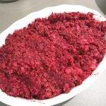 Red Hot Stew; pittige ovenschotel met rode biet en gehakt