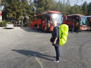 Backpacken in Iran onderweg naar VIP bus