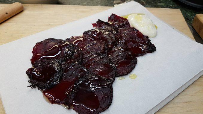 Bietencarpaccio uit TLV kookboek
