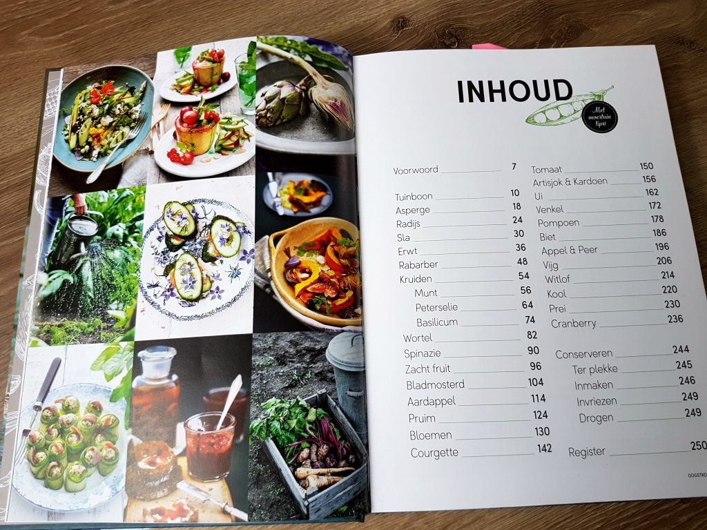 Oogstkoken kookboek inhoudsopgave