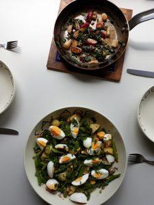 Geroosterde radijsje en Salade van sugarsnaps uit Zes Seizoenen