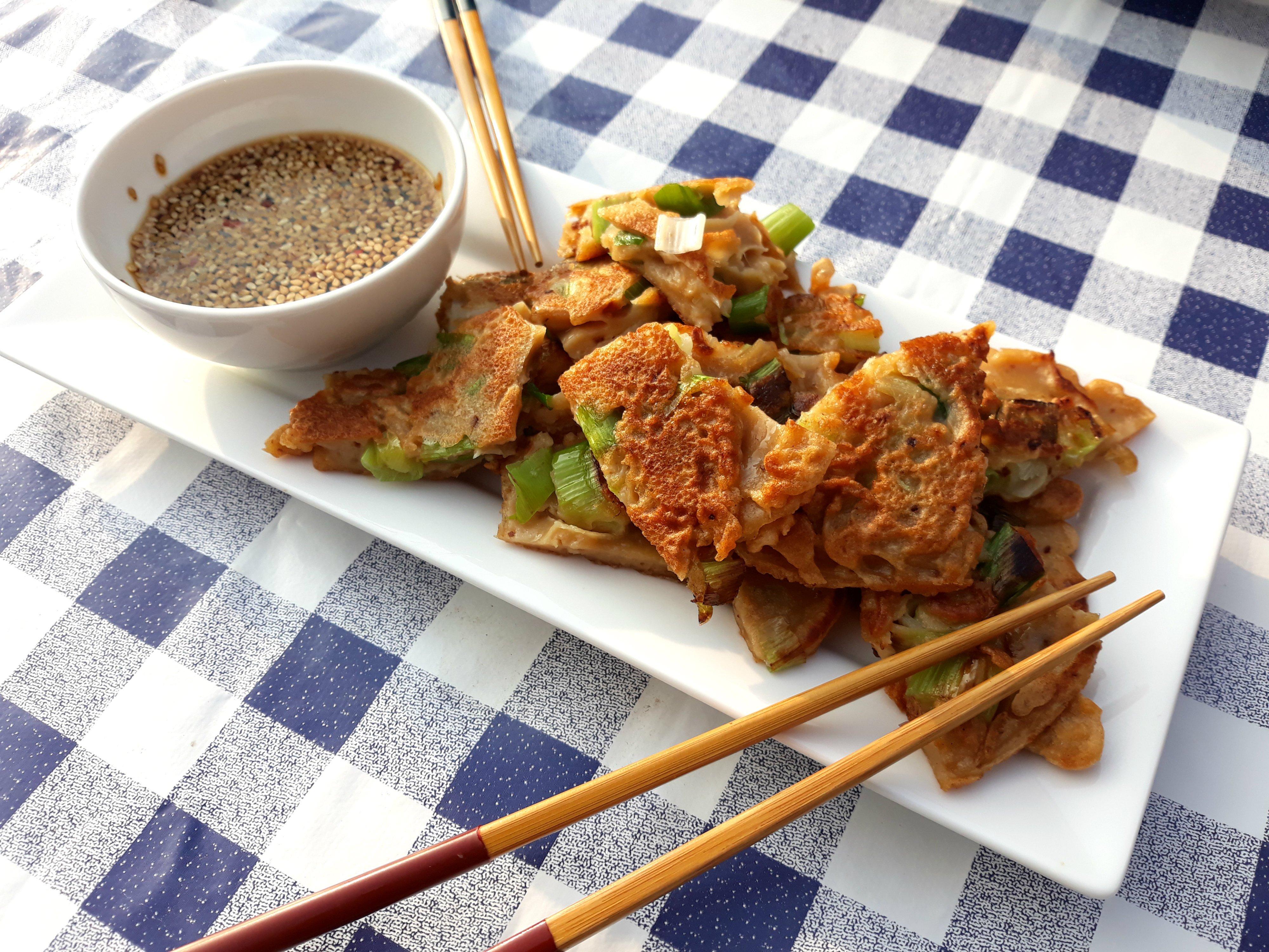 Pajeon Koreaanse lente ui pannenkoek