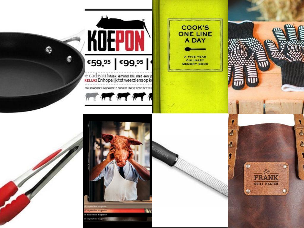 Collage met cadeau tips voor foodies