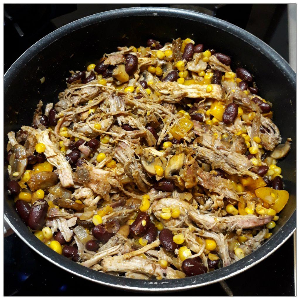Vulling voor nachos ovenschotel in pan
