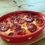 Gegratineerde bieten, rabarber en aardappel van Anna Jones