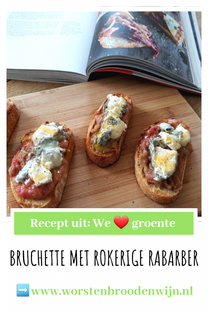 Bruchette met rokerige rabarber uit We love groente
