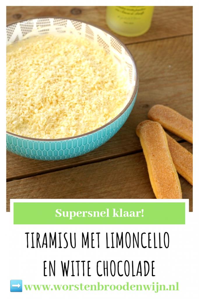 Tiramisu met limoncello